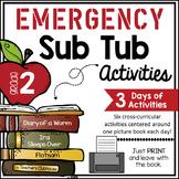 Second Grade Emergency Sub Activities Unit
