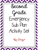 Second Grade Emergency Sub Plan Packet (17 pages) !