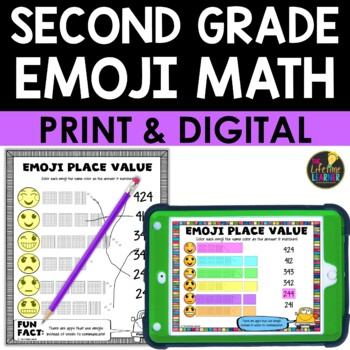 Second Grade Emoji Math