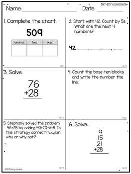 second grade end of year common core math assessment by berry creative. Black Bedroom Furniture Sets. Home Design Ideas