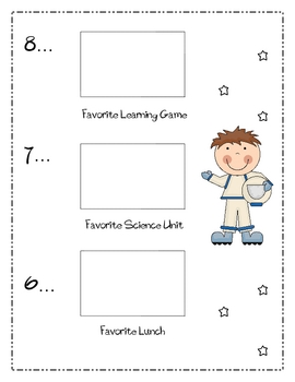 Second Grade End of Year Memory Book ~ Outer Space Theme