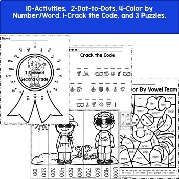 Second Grade End of Year Memory Journal