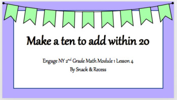 Second Grade Engage NY PowerPoint Module 1 Lesson 4