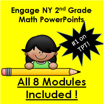 PowerPoints! All 8 Second Grade Modules for use with Engage New York (NY) Math