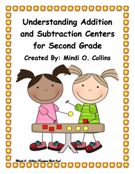 Second Grade Envision Math Centers for Unit One
