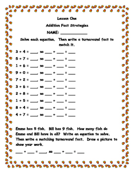 Second Grade Envision Math, Unit One Extra Practice Sheets