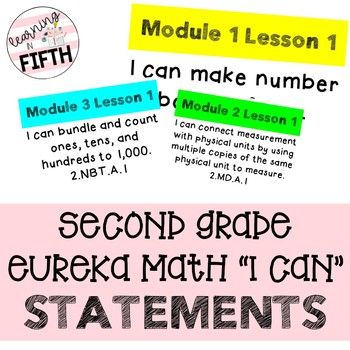 Second Grade Eureka Math I Can Statements