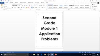 Second Grade Eureka Math Module 1 Application Problems.