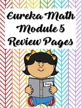 Second Grade, Eureka Math, Module 5 -- Review pages