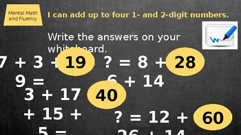 Second Grade Everyday Math Unit 7 Lesson 5 PowerPoint