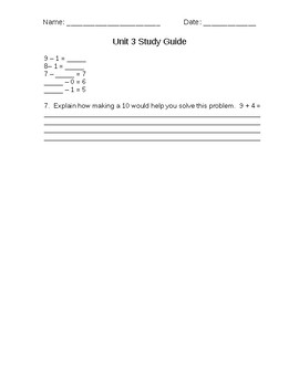 Second Grade Everyday Mathematics Unit 3 Study Guide