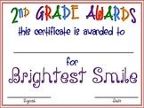 """Second Grade """"FUN"""" Awards"""