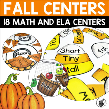 Fall Math and Literacy Centers Bundle for Second Grade