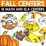 Fall Math and Literacy Centers for Second Grade