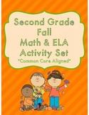 Second Grade Fall Math & ELA Activity Set *Common Core Aligned*