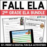 Fall Digital & Printable ELA Activities Bundle for 2nd Grade