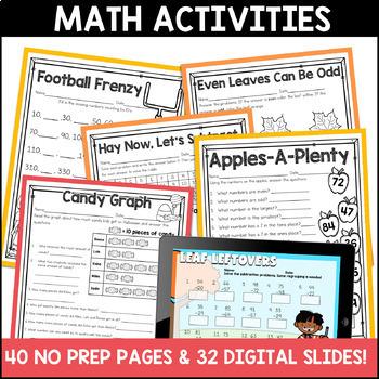 Fall Literacy and Math: No Prep Second Grade