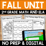 Fall Literacy and Math: No Prep Second Grade