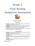 Second Grade Final Reading Summative Assessment