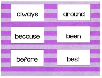 Second Grade Flashcards/Game
