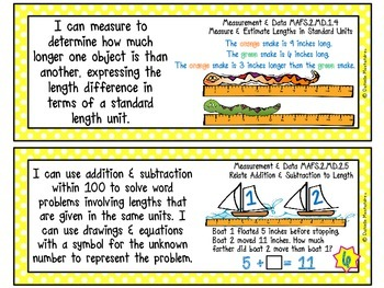 Second Grade Florida LAFS & MAFS I Can Statements {Primary Polka Dots}