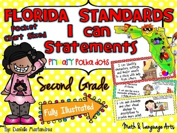 Second Grade Florida LAFS & MAFS I Can Statements {Primary