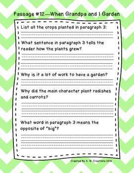 Second Grade Fluency and Comprehension Passages Set B (Passages 11-20) DORF