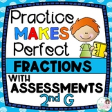 Second Grade Fraction Activities and Assessments