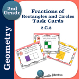 2.G.3 Task Cards Fractions of Circles and Rectangles