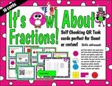 Fractions QR word problem task cards or scoot - Tek 2.3 A-D