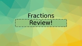 Second Grade Fractions Review Powerpoint Slides