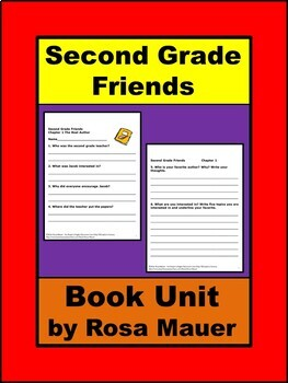 Second Grade Friends Reading Comprehension