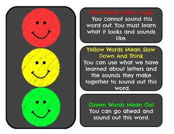 """Second Grade Fry's Second 100 """"Stop, Think, Go"""" Word Wall Words"""
