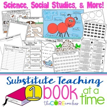Second Grade Full-day Sub Plans (ELA, Math, Science, SS, Art, PE, + more)