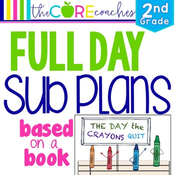 Second Grade Full-day Sub Plans (ELA, Math, Science, SS, Art, PE, + more) Kit 2