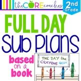 Second Grade Full-day Sub Plans (ELA, Math, Science, SS, Art, PE, + more) Kit 2