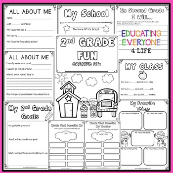 Back To School Activities Second Grade by Educating ...