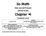 Second Grade-GO MATH! Chapter 1 Journals