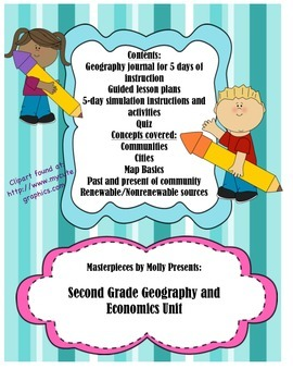 Second Grade Geography and Economics Unit