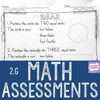 Math Assessments - Second Grade Geometry