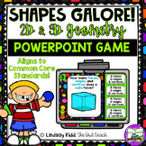 2D and 3D Shapes PowerPoint Game:  Distance & Digital Learning