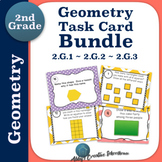 Second Grade Geometry Task Cards BUNDLE