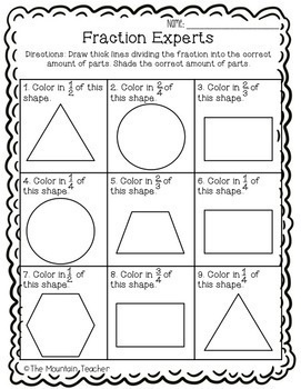 Second Grade Geometry Unit: Shapes & Fractions