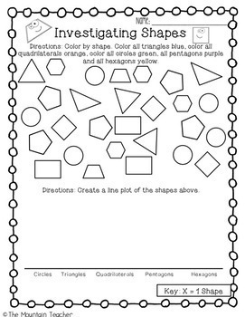 Second Grade Geometry Unit Shapes and Fractions