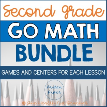 Second Grade Go Math Centers and Games BUNDLE!