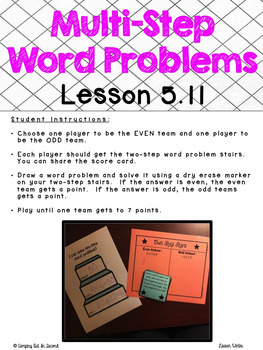 Second Grade Go Math Centers and Games: Chapter 5