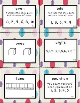 Second Grade Go Math Chapter 1 Vocabulary Cards