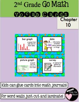 Second Grade Go Math Chapter 10 Vocabulary Cards