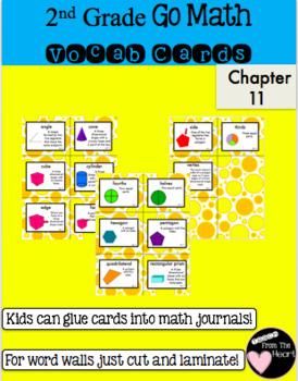 Second Grade Go Math Chapter 11 Vocabulary Cards