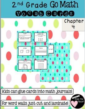 Second Grade Go Math Chapter 4 Vocabulary Cards